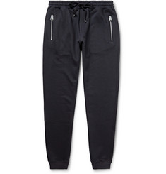Dolce & Gabbana Leather-Trimmed Cotton and Silk-Blend Sweatpants