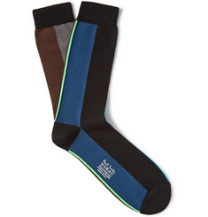 Paul Smith Shoes & Accessories Vertical Stripe Cotton-Blend Socks