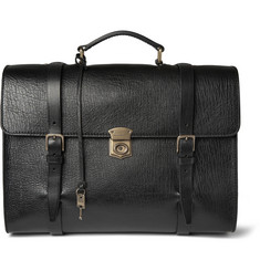 Dolce & Gabbana Convertible Textured-Leather Briefcase