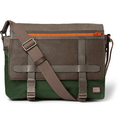 Dolce & Gabbana Leather-Trimmed Canvas Messenger Bag