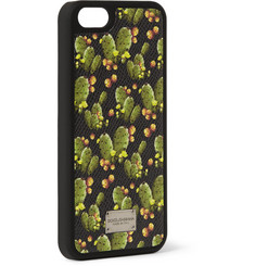 Dolce & Gabbana Cactus-Print Leather iPhone Case