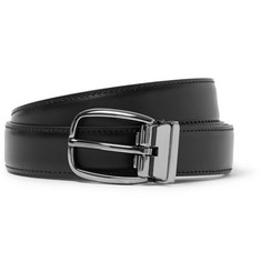 Dolce & Gabbana Black 2.5cm Leather Belt