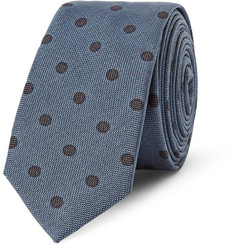 Dolce & Gabbana Gold-Fit Polka Dot Silk Tie