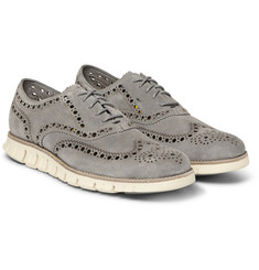 Cole Haan ZeroGrand Wing Suede Oxford Shoes