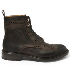 O'Keeffe Waxy Commander Balantyne Leather Brogue Boots
