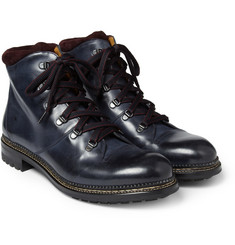 O'Keeffe Austin Hand-Painted Leather Lace-Up Boots