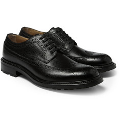 O'Keeffe Felix Pebble-Grain Leather Wingtip Brogues
