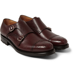 O'Keeffe Manach Pebble-Grain Leather Monk-Strap Brogues