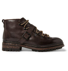 O'Keeffe Alvis Leather Lace-Up Boots