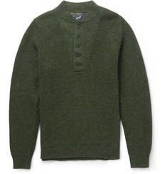 Grayers Slubbed Wool-Blend Henley Sweater
