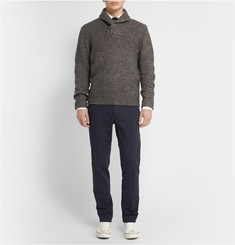 Grayers Wool and Linen-Blend Shawl-Collar Sweater