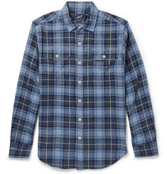 Grayers Checked Herringbone Cotton Shirt