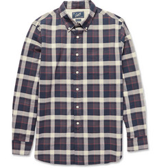 Grayers Button-Down Collar Plaid Cotton Shirt