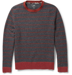 Grayers Striped Slubbed Wool-Blend Sweater