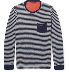 Grayers Striped Double-Faced Cotton Sweatshirt