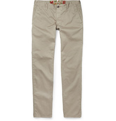 Incotex Slim-Fit Garment-Dyed Cotton-Blend Chinos