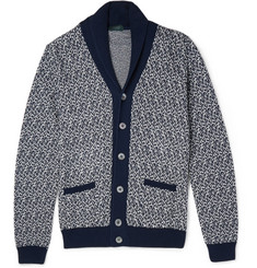 Incotex Cotton Shawl-Collar Cardigan