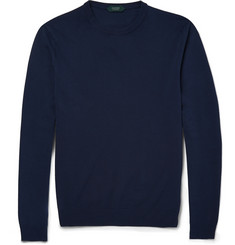 Incotex Garment-Dyed Knitted-Cotton Sweater