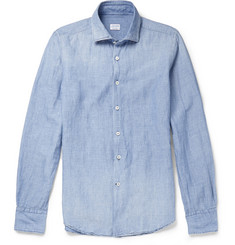 Incotex Linen and Cotton-Blend Chambray Shirt