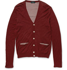 Incotex Double-Layer Wool and Cotton-Blend Cardigan