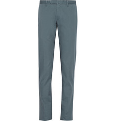 Incotex Slim-Fit Cotton-Twill Trousers