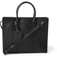 Burberry Shoes & Accessories Structured Cross-Grain Leather Briefcase