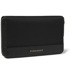 Burberry Shoes & Accessories Leather-Trimmed Travel Wallet