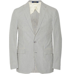 Polo Ralph Lauren Blue Morgan Unstructured Cotton-Seersucker Blazer