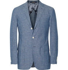 Polo Ralph Lauren Blue Morgan Unstructured Cotton-Chambray Blazer