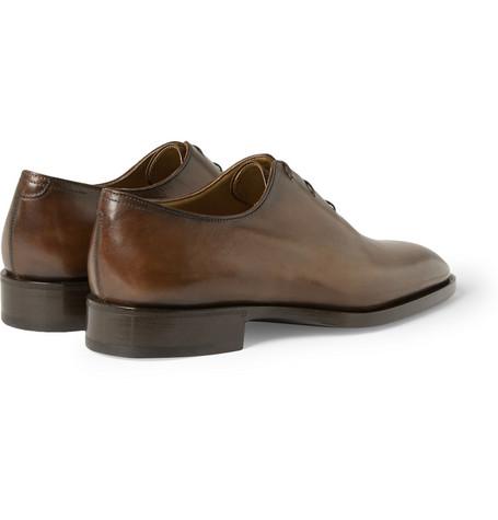 Blake Venezia Leather Oxford Shoes - Brown