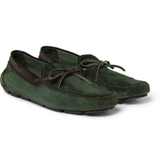 Berluti Vendome Suede Driving Shoes