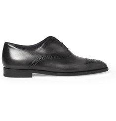 Berluti Grigio Polished-Leather Oxford Brogues