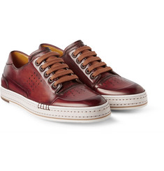 Berluti Playtime Burnished Leather Sneakers