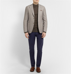 Canali Kei Unstructured Wool and Cotton-Blend Blazer