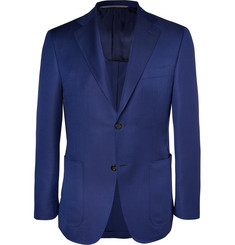 Canali Kei Unstructured Wool and Mohair-Blend Blazer