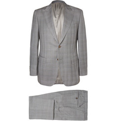 Canali Grey Checked Super 130s Wool Suit