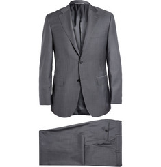 Canali Grey Super 130s Wool Suit