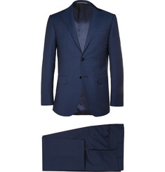 Canali Navy Super 130s Wool Travel Suit