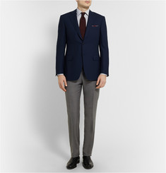Canali Grey Slim-Fit Super 120s Wool Trousers