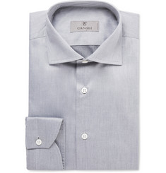 Canali Grey Cotton Shirt
