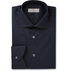 Canali Navy Cotton Shirt