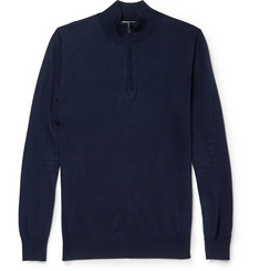 Canali Zip-Collar Cotton Sweatshirt