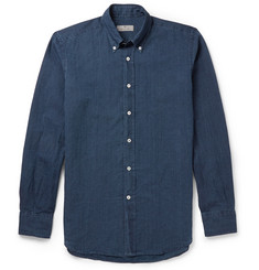 Canali Linen and Cotton-Blend Shirt