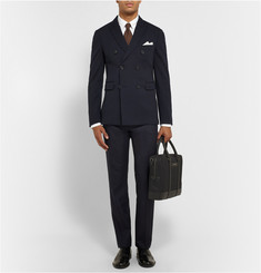 Burberry London Double-Breasted Wool-Jersey Blazer