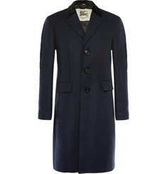Burberry London Slim-Fit Houndstooth Wool and Cashmere-Blend Felt Coat