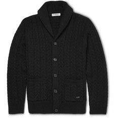 Burberry London Slim-Fit Wool and Cashmere-Blend Shawl-Collar Cardigan
