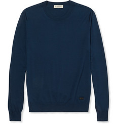 Burberry London Fine-Knit Merino Wool Sweater