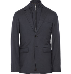 Burberry London Wool and Silk-Blend Blazer with Detachable Gilet
