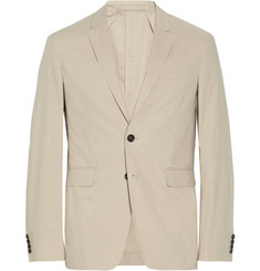 Burberry London Beige Unstructured Cotton Blazer