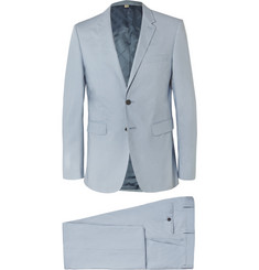 Burberry London Blue Slim-Fit Cotton Suit